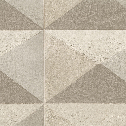 Plastered Diamond Brown Wallpaper