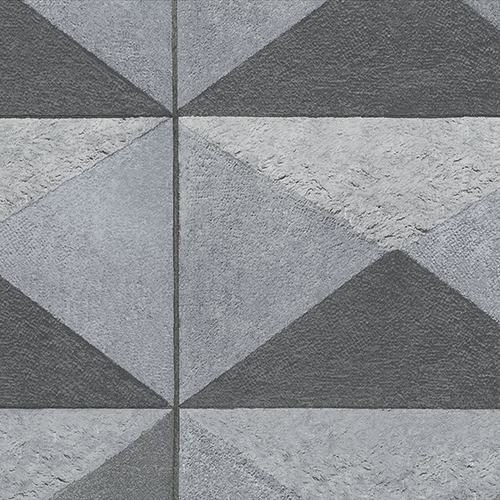Plastered Diamond Grey and Black Wallpaper - SAMPLE SWATCH ONLY