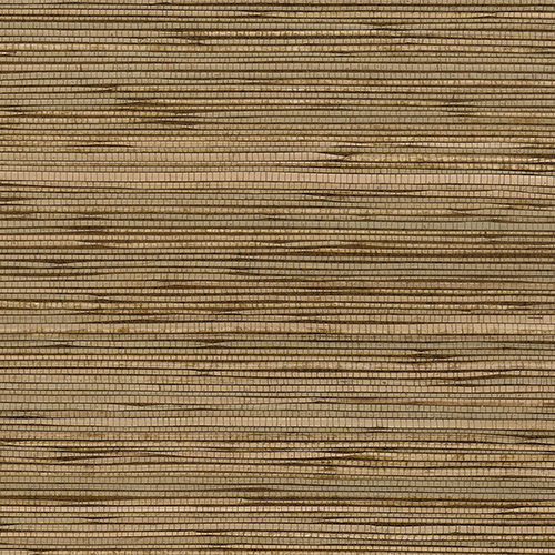 Fine Seagrass Green, Brown and Beige Wallpaper - SAMPLE SWATCH ONLY