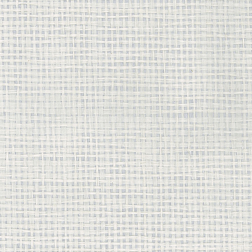 White and Silver Metallic Paper Weave Grasscloth Wallpaper - SAMPLE SWATCH ONLY