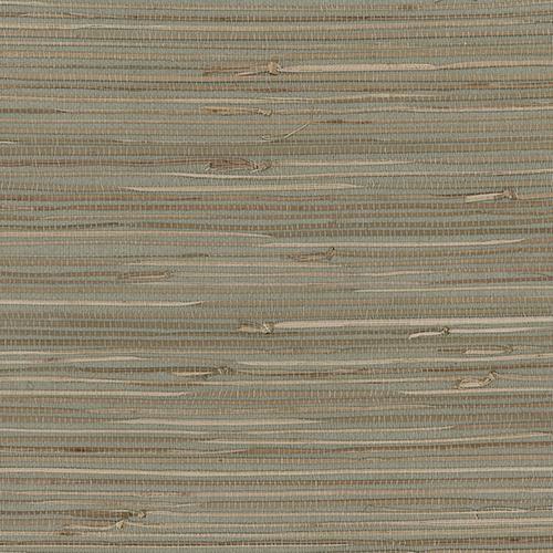 Regular Buddle Green, Brown and Beige Grasscloth Wallpaper