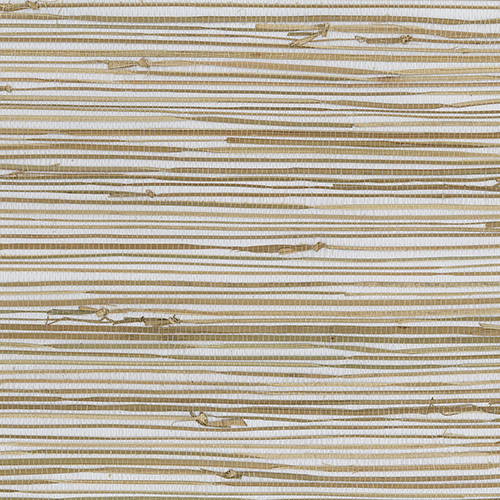 Regular Buddle White, Brown and Tan Grasscloth Wallpaper - SAMPLE SWATCH ONLY