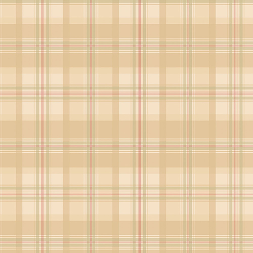 Norwall Wallcoverings Medium Beige, Cream and Green Plaid Wallpaper - SAMPLE SWATCH ONLY