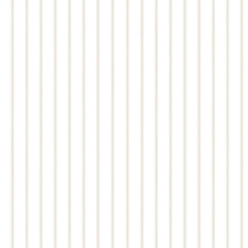 Norwall Wallcoverings Ticking Stripe Beige Wallpaper