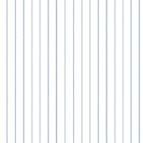 Ticking Stripe Navy and White Wallpaper - SAMPLE SWATCH ONLY