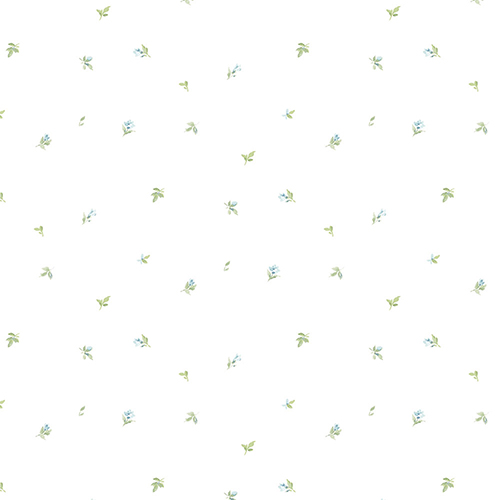 Norwall Wallcoverings Camille Mini Blue and Green Wallpaper
