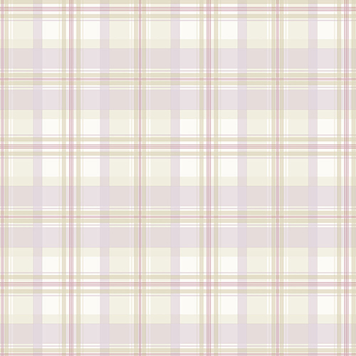 Norwall Wallcoverings Purple, Pink and Cream Plaid Wallpaper - SAMPLE SWATCH ONLY