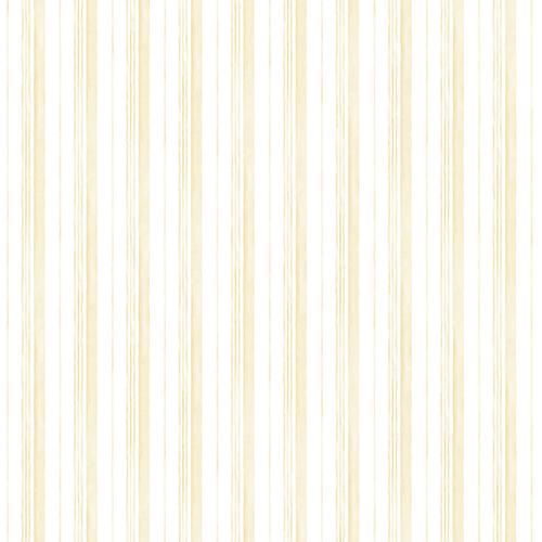 Norwall Wallcoverings Caroline Yellow Stripe Wallpaper - SAMPLE SWATCH ONLY