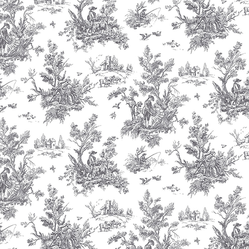 Black Toile Wallpaper