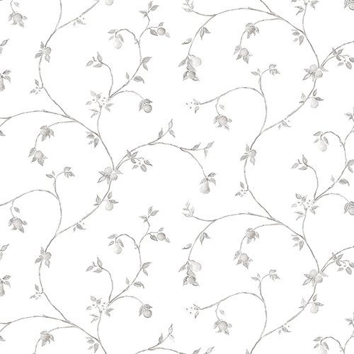 Fruit Trail Light Grey Wallpaper - SAMPLE SWATCH ONLY
