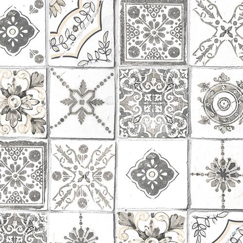 Grey and Beige Moroccan Tiles Wallpaper