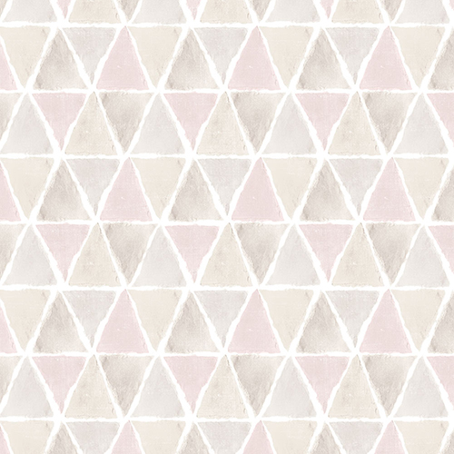 Kitchen Triangle Pink and Grey Wallpaper