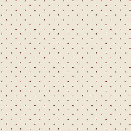 Norwall Wallcoverings Lilly Paws Cream and Red Wallpaper - SAMPLE SWATCH ONLY