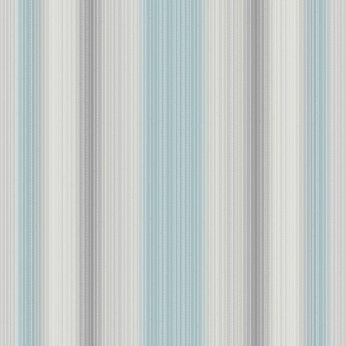 String Stripe Grey and Metallic Silver Wallpaper