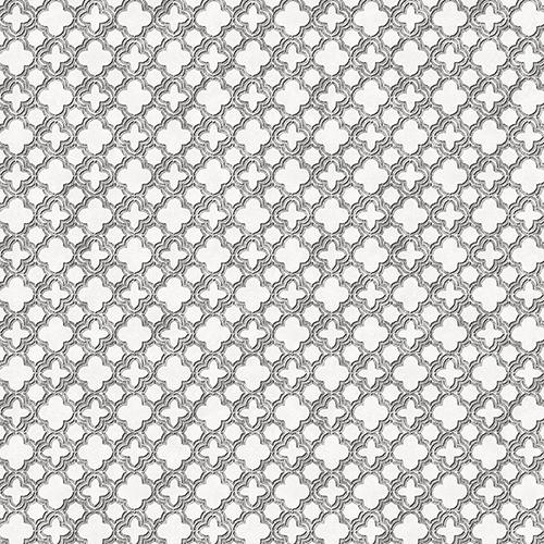 Velvet Mini Black and Metallic Silver Wallpaper