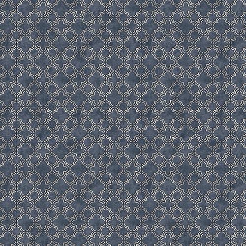 Velvet Mini Blue and Silver Wallpaper