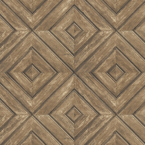 Brown and Walnut Wood Tile Wallpaper