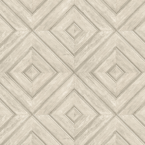 Norwall Wallcoverings Beige and Tan Wood Tile Wallpaper - SAMPLE SWATCH ONLY
