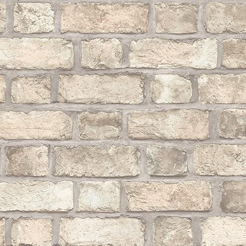 Farmhouse Brick Brown Wallpaper