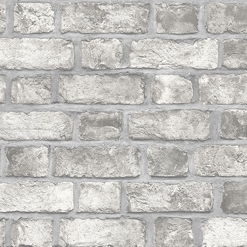Farmhouse Brick Grey Wallpaper - SAMPLE SWATCH ONLY