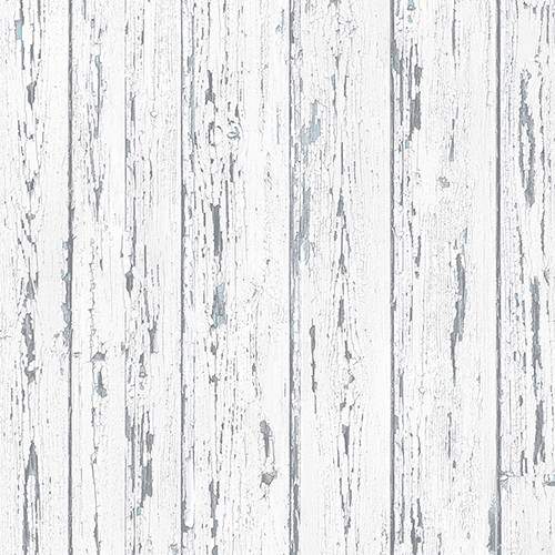 Norwall Wallcoverings White, Grey and Turquoise Shiplap Wallpaper
