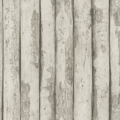 Norwall Wallcoverings Log Cabin Taupe and Brown Wood Wallpaper - SAMPLE SWATCH ONLY