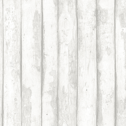 Norwall Wallcoverings Log Cabin Light Grey Wood Wallpaper - SAMPLE SWATCH ONLY