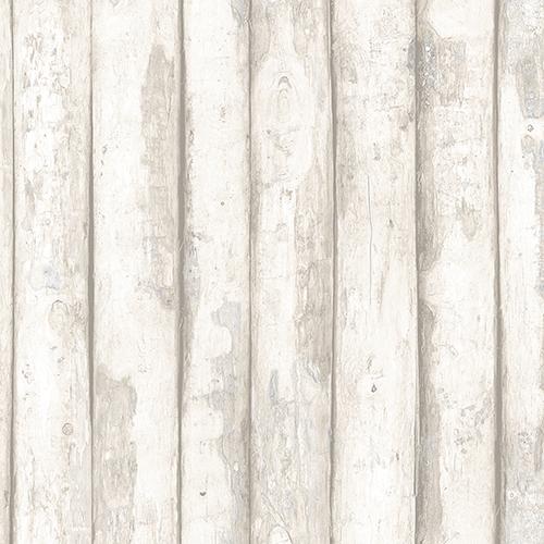 Log Cabin Beige Wood Wallpaper