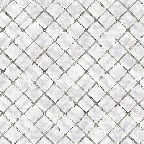 Chicken Wire Grey and Black Wallpaper