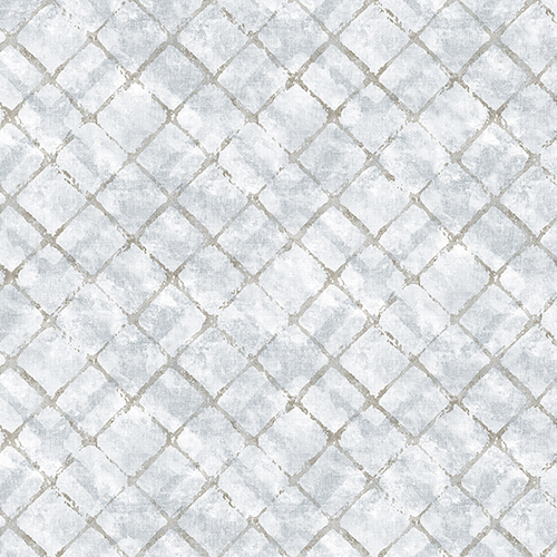 Norwall Wallcoverings Chicken Wire Light Blue and Beige Wallpaper - SAMPLE SWATCH ONLY