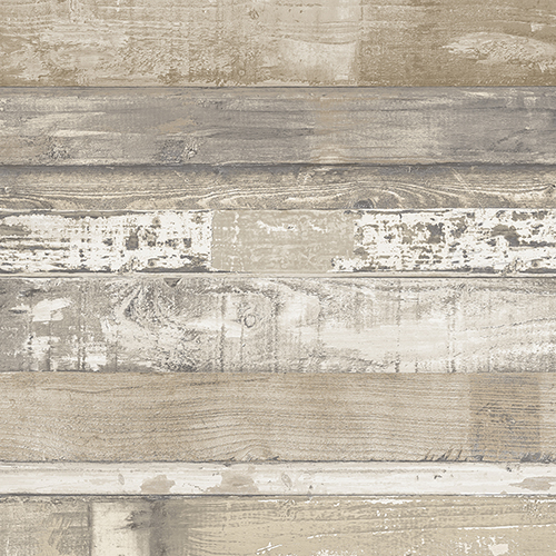 Brown and Beige Beachwood Wallpaper - SAMPLE SWATCH ONLY
