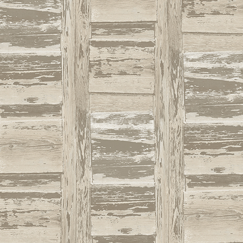 Norwall Wallcoverings Brown and Beige Shutter Wallpaper - SAMPLE SWATCH ONLY