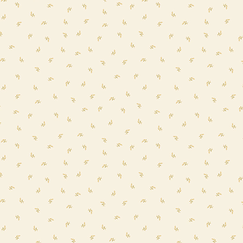Norwall Wallcoverings Lilac Small Leaf Ochre and Cream Wallpaper