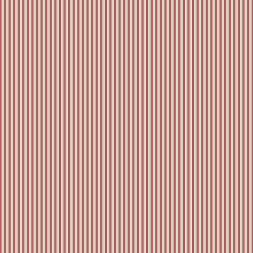 Red and Cream 3mm Stripe Wallpaper