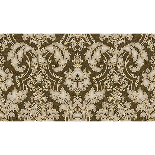 Metallic Gold and Brown Damask Wallpaper - SAMPLE SWATCH ONLY