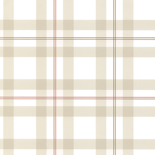 Bocconcini Red and Light Beige Plaid Wallpaper