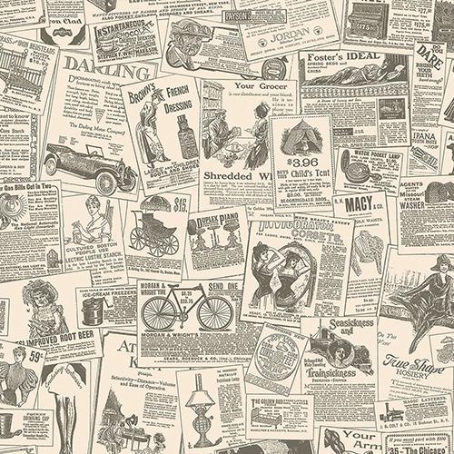 Beige and Black Newspaper Wallpaper