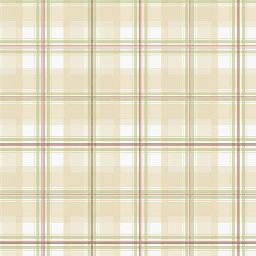 Cream, Red and Green Plaid Wallpaper