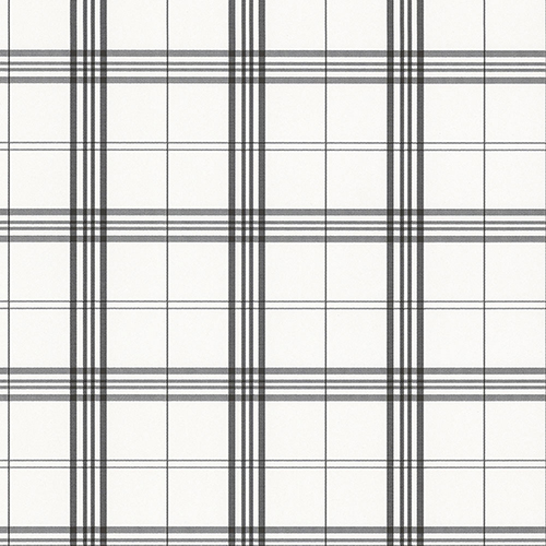 Kitchen Plaid Black and White Wallpaper - SAMPLE SWATCH ONLY