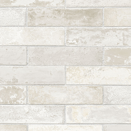 Cream and Grey Swiss Brick Wallpaper