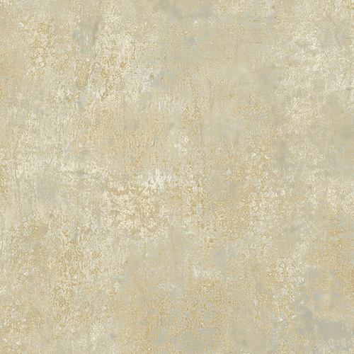 Frost Blue and Metallic Gold Wallpaper