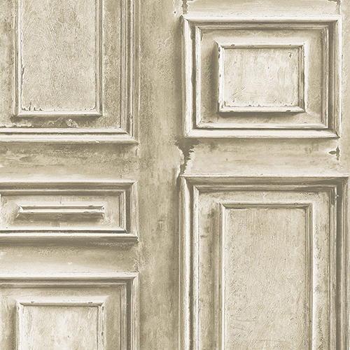 Norwall Wallcoverings Light Brown Wood Panel Wallpaper - SAMPLE SWATCH ONLY