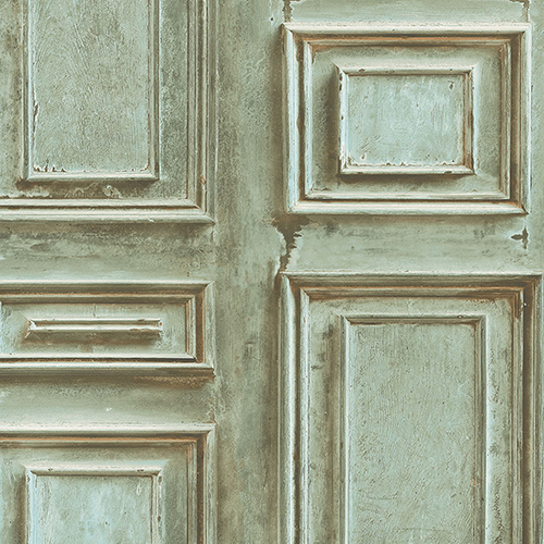 Green Wood Panel Wallpaper