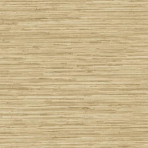 Grasscloth Ochre, Cream and Beige Wallpaper