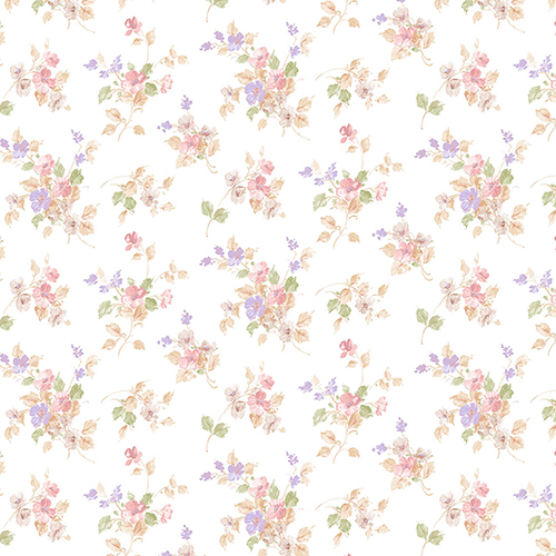 Norwall Wallcoverings Blossom Mini Pink and Purple Wallpaper - SAMPLE SWATCH ONLY