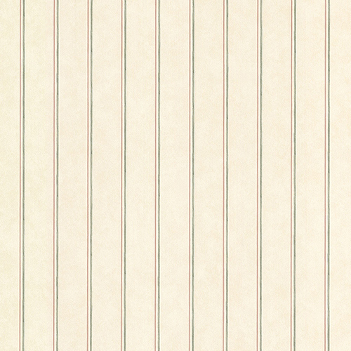 Norwall Wallcoverings Thin Stripe Beige, Green and Pink Wallpaper - SAMPLE SWATCH ONLY