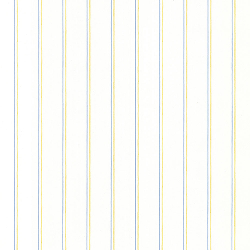 Thin Stripe Yellow and Blue Wallpaper - SAMPLE SWATCH ONLY