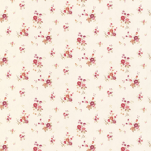Rhiannon Trail Cream and Pink Floral Wallpaper - SAMPLE SWATCH ONLY