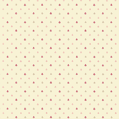 Norwall Wallcoverings Lulu Spot Cream, Burgundy and Pink Wallpaper - SAMPLE SWATCH ONLY