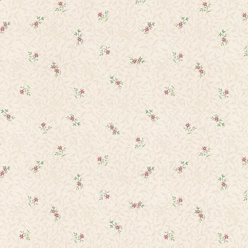Isabella Light Beige and Pink Floral Wallpaper